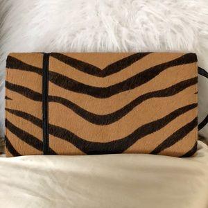 Bags - Brand New 👜 Calf Hair Tiger Print Clutch